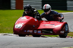 Howard Langham at International Sidecar Revival, Cadwell Park, Lincolnshire, June 2018. Photo: Neil Houltby