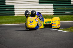 Rolf Biland and Kurt Waltzberg at International Sidecar Revival, Cadwell Park, Lincolnshire, June 2018. Photo: Neil Houltby