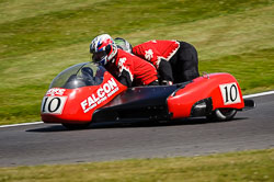 Ian Oldroyd and Andrew Oldroyd at International Sidecar Revival, Cadwell Park, Lincolnshire, June 2018. Photo: Neil Houltby