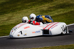 Stuart Woodard  at International Sidecar Revival, Cadwell Park, Lincolnshire, June 2018. Photo: Neil Houltby