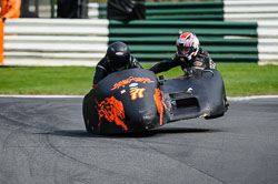 Chris Schofield and Derek Gaylor at International Sidecar Revival, Cadwell Park, Lincolnshire, June 2018. Photo: Neil Houltby