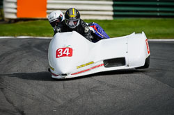 Mick Smith and Jamie Dobie at International Sidecar Revival, Cadwell Park, Lincolnshire, June 2018. Photo: Neil Houltby