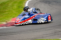 Gary Gibson and Daryl Gibson at International Sidecar Revival, Cadwell Park, Lincolnshire, June 2018. Photo: Neil Houltby