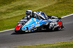 Craig Goodier and Peter Founds at International Sidecar Revival, Cadwell Park, Lincolnshire, June 2018. Photo: Neil Houltby