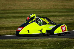 Michael Kirkup and Arlo Brown at International Sidecar Revival, Cadwell Park, Lincolnshire, June 2018. Photo: Neil Houltby
