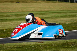 Stewart Lithgow and Iain Souter at International Sidecar Revival, Cadwell Park, Lincolnshire, June 2018. Photo: Neil Houltby