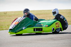 Paul Riley and Andrew Haynes at Wirral 100, Anglesey Circuit, Anglesey, July 2018. Photo: Neil Houltby
