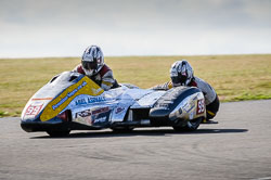Steve Ramsden and Matt Ramsden at Wirral 100, Anglesey Circuit, Anglesey, July 2018. Photo: Neil Houltby