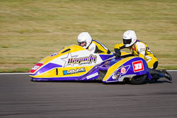 Sean Hegarty and James Neave at Wirral 100, Anglesey Circuit, Anglesey, July 2018. Photo: Neil Houltby