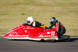 Michael Jackson and Tom Christie at Wirral 100, Anglesey Circuit, Anglesey, July 2018. Photo: Neil Houltby