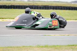 Richard Lumley and Ray Whitnall at Wirral 100, Anglesey Circuit, Anglesey, July 2018. Photo: Neil Houltby