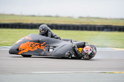 Chris Schofield and Derek Taylor at Wirral 100, Anglesey Circuit, Anglesey, July 2018. Photo: Neil Houltby