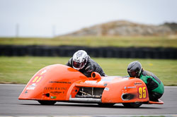 Ralph Remnant and Samantha Tilley at Wirral 100, Anglesey Circuit, Anglesey, July 2018. Photo: Neil Houltby