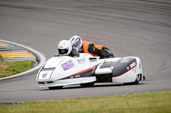 Gary Wilson and Lewis Kemp at Wirral 100, Anglesey Circuit, Anglesey, July 2018. Photo: Neil Houltby
