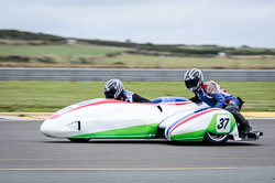 Gary Knight and Daniel Evanson at Wirral 100, Anglesey Circuit, Anglesey, July 2018. Photo: Neil Houltby