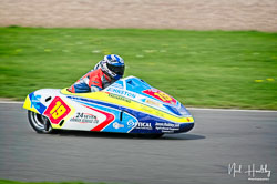 Simon Robinson and Mick Fairhurst at NG Road Racing, Donington Park, Leicestershire, May 2019. Photo: Neil Houltby